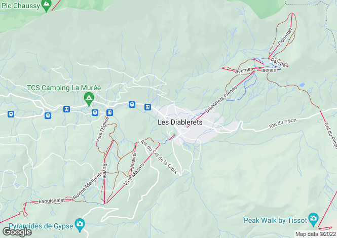 Map for Vaud, Les Diablerets