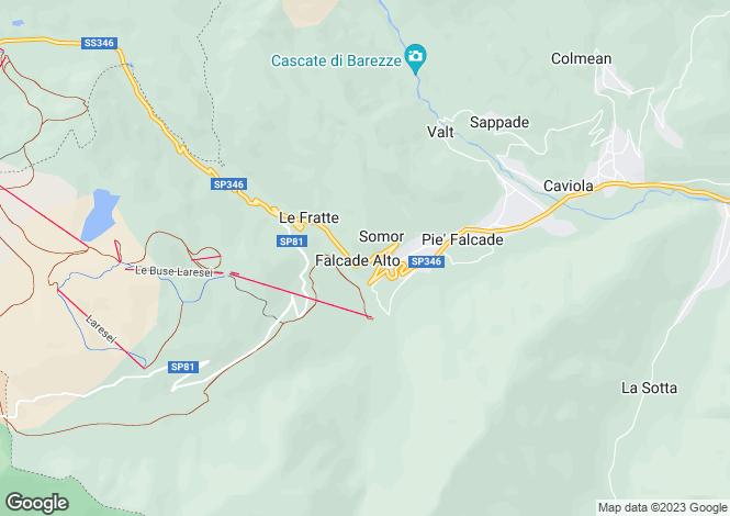 Map for Falcade, Belluno, Veneto