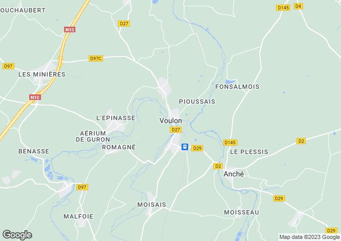 Map for Voulon, Vienne, 86700, France