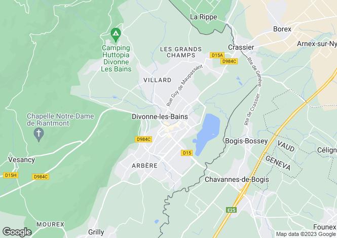 Map for France - Rhone Alps, Ain, Divonne-les-Bains