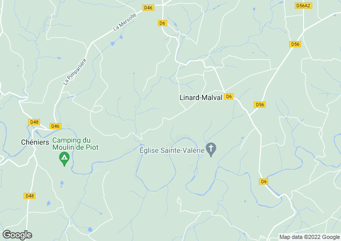 Map for Limousin, Creuse, Linard