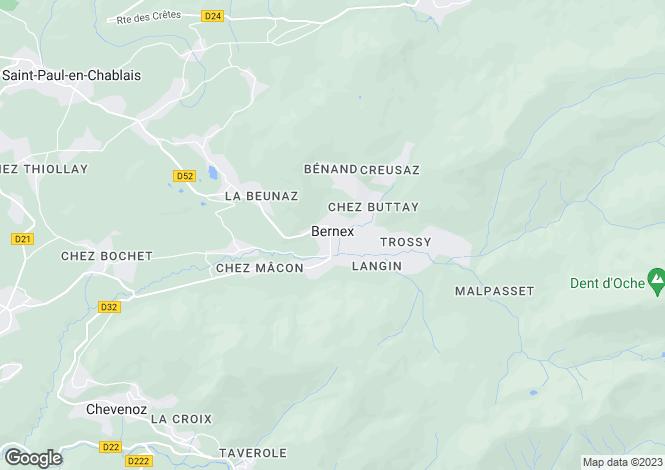 Map for Bernex, Haute Savoie, France, 74390