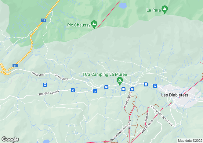 Map for Les Diablerets, Vaud