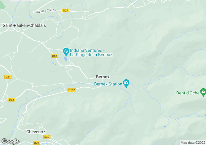 Map for bernex, Haute-Savoie, France