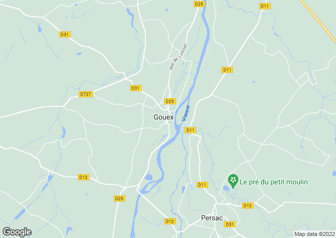 Map for gouex, Vienne, France