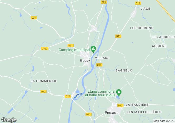 Map for Gouex, Vienne, Poitou-Charentes