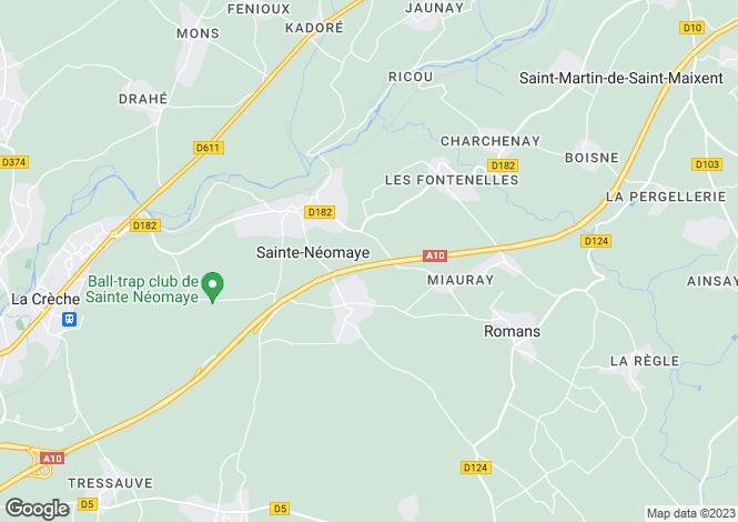 Map for ste-neomaye, Deux-Sèvres, France
