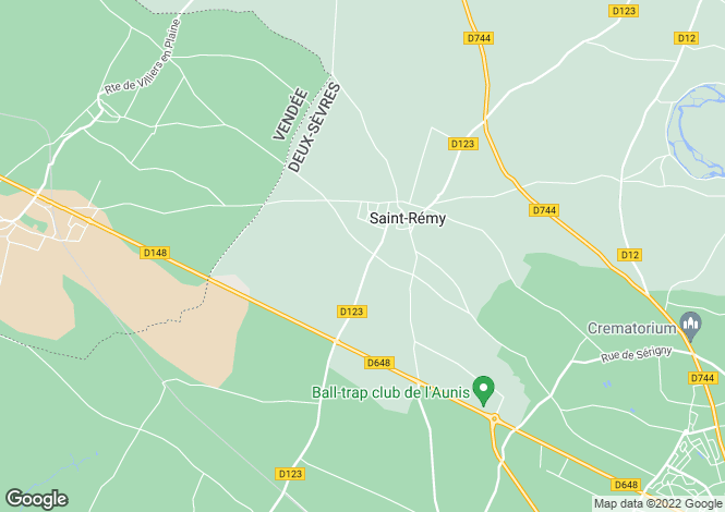 Map for st-remy, Deux-Sèvres, France