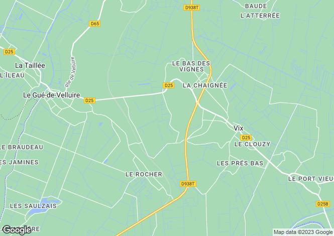 Map for le-gue-de-velluire, Vendée, France