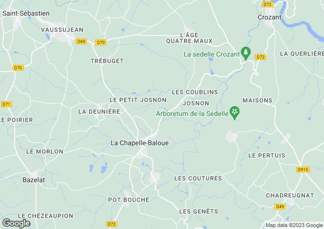 Map for la-chapelle-baloue, Creuse, France
