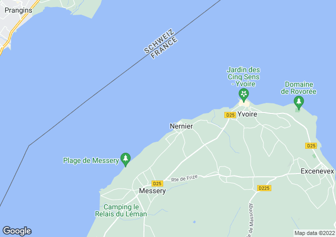 Map for NERNIER, LAKE GENEVA/LAC LEMAN, The Alps,