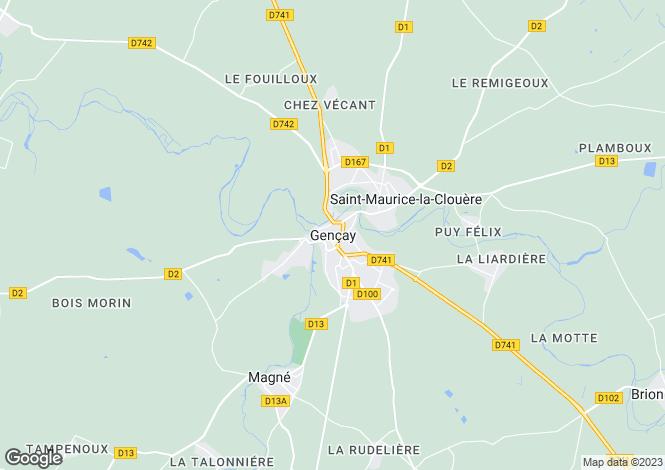 Map for Secteur: Gençay, Vienne