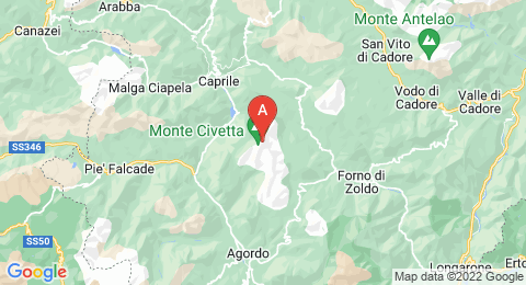 map of Monte Civetta (Italy)