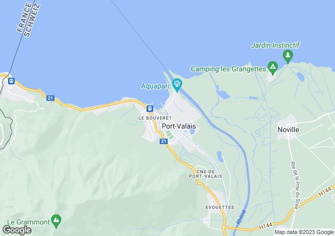 Map for Bouveret, Valais