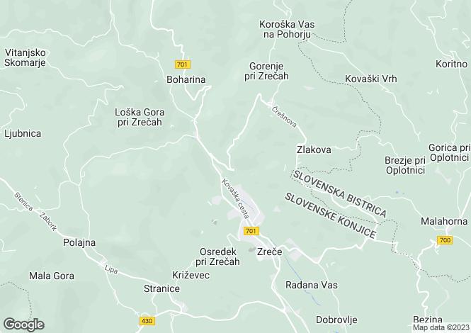 Map for Zrece, Slovenske Konjice