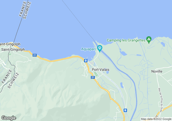 Map for Switzerland - Valais, Bouveret