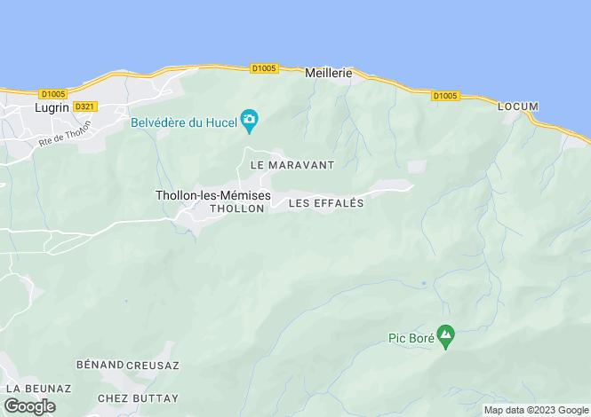 Map for Thollon-les-Mémises, Haute-Savoie, Rhone Alps