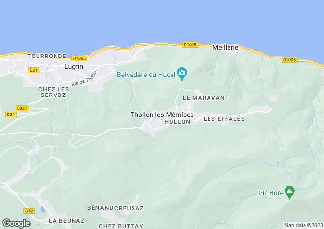 Map for Thollon-les-Memises, Haute Savoie, France