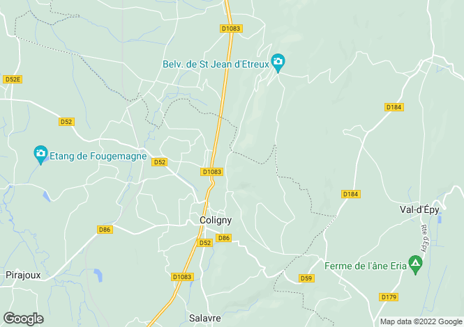 Map for coligny, Ain, France