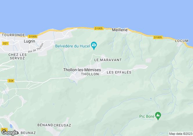 Map for Thollon-Les-Memises, Rhone-Alpes, 74500, France