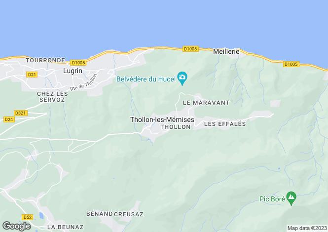 Map for Rhone Alps, Haute-Savoie, Thollon-les-Mémises
