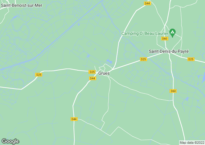 Map for grues, Vendée, France