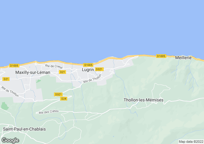 Map for LUGRIN, LAKE GENEVA/LAC LEMAN, The Alps,