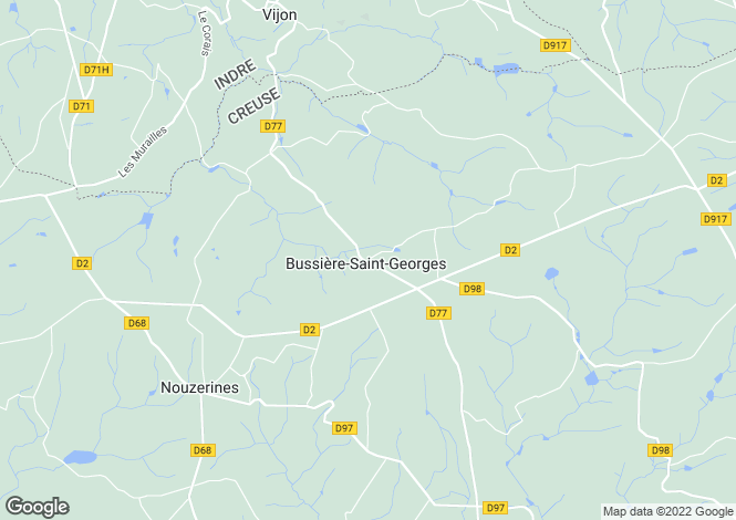 Map for Limousin, Creuse, Bussière-St-Georges