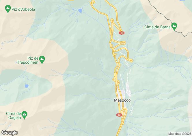 Map for Graubünden, Mesocco