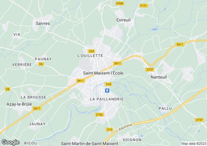 Map for Secteur: Saint-Maixent-l'École, Deux-Sèvres