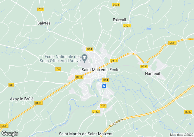 Map for saint-maixent-l-ecole, Deux-Sèvres, France