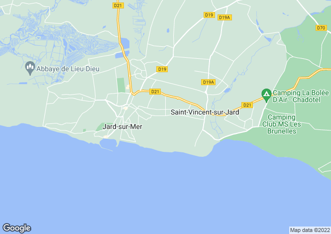 Map for jard-sur-mer, Vendée, France