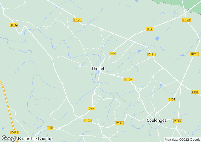 Map for thollet, Vienne, France