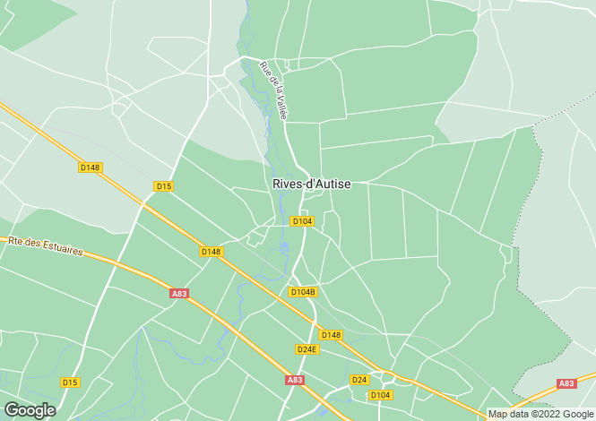 Map for Rives-d'Autise, Vendee