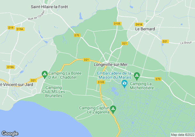 Map for longeville-sur-mer, Vendée, France