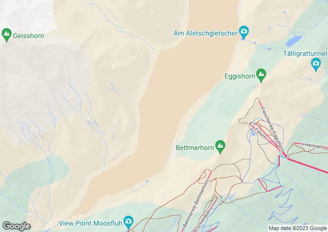 Map for Bettmeralp, Valais