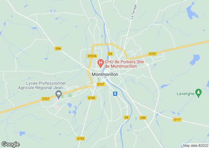 Map for Secteur: Montmorillon, Vienne
