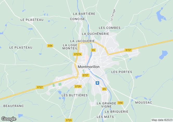 Map for Montmorillon, Vienne