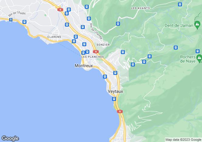 Map for Switzerland - Vaud, Montreux