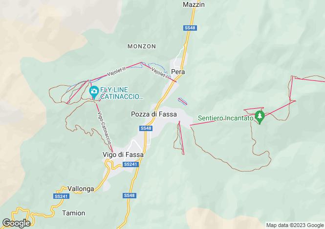 Map for Pozza di Fassa, Trento, Trentino-South Tyrol