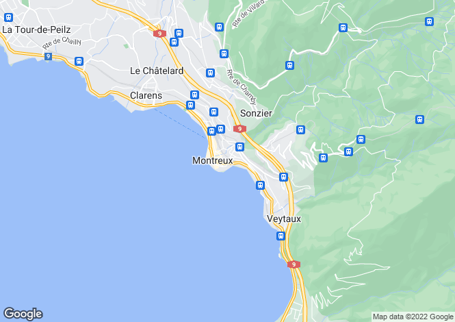 Map for Vaud, Montreux