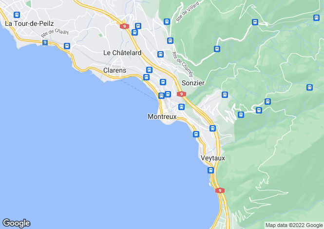Map for Apartment With Panoramic Lake Views, Montreux, Vaud