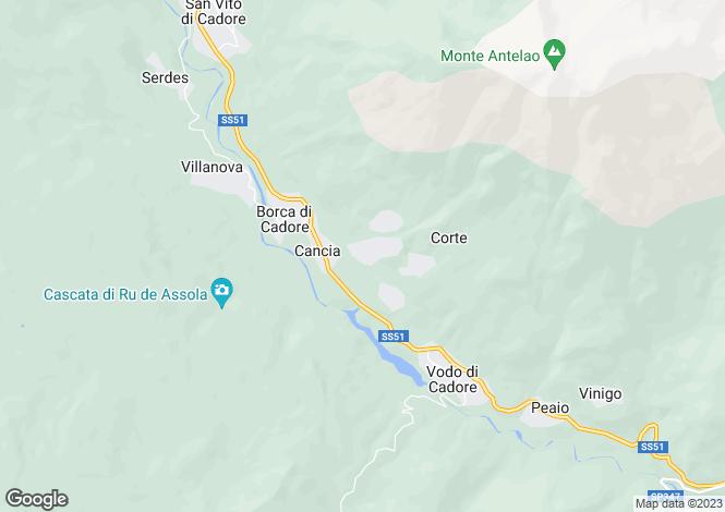 Map for Cortina d`Ampezzo, Belluno, Veneto