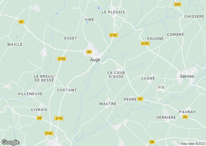 Map for auge, Deux-Sèvres, France