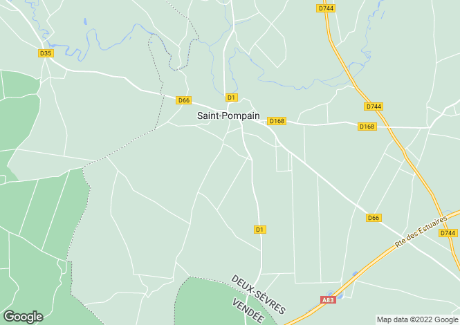 Map for st-pompain, Deux-Sèvres, France