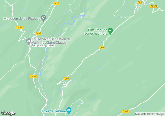 Map for longchaumois, Jura, France