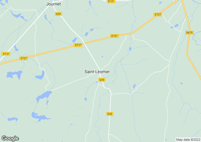 Map for st-leomer, Vienne, France