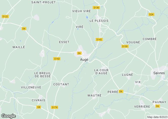 Map for Secteur: Auge, Deux-Sevres
