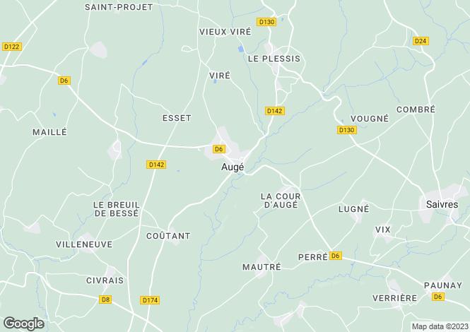 Map for St Maixent l'Ecole, Deux-Sèvres, 79400, France