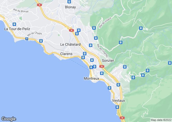 Map for Switzerland - Vaud, Montreux